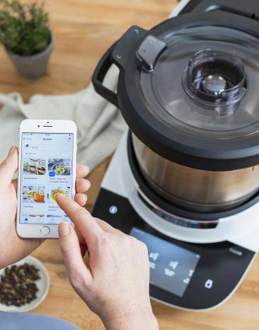 Home Connect App in Benutzung am Cookit